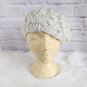Merona Gray Cable Knit Slouch Beret Hat